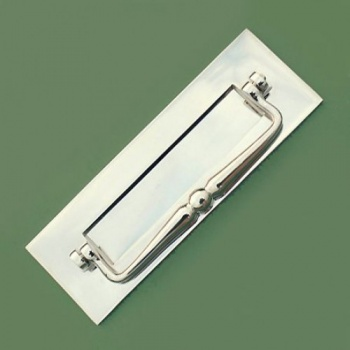 Traditional Letterbox With Clapper - Nickel