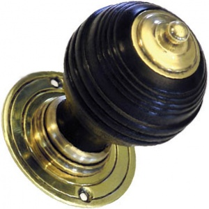 Solid Ebonised Trafalgar Door Knobs