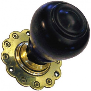 Solid Ebonised Tulip Door Knobs
