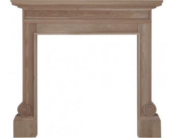 Volute Wooden Fireplace Surround