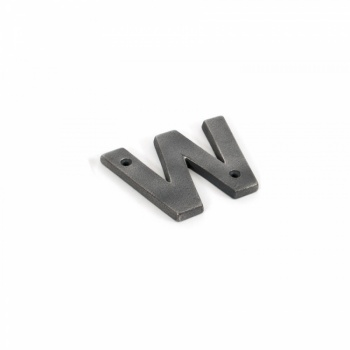 Antique Pewter Letter W