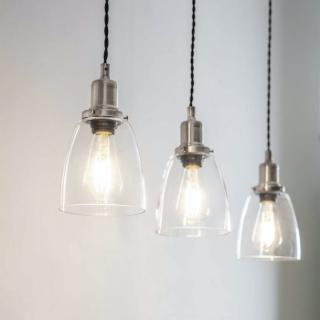Trio Of Hoxton Domed Pendant Light