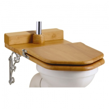 Wooden Oak Throne Toilet Seat - Low level
