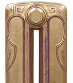 Cast Iron Radiator Finish - Gold Leaf Aged Purple