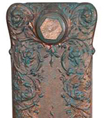 Cast Iron Radiator Finish - Copper Leaf & Verdi Gris