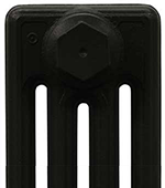 Cast Iron Radiator Finish - Satin Black